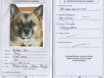 Our Pooch's Passport