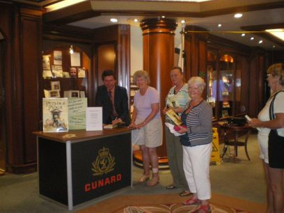 Book Signing on The Queen Elizabeth